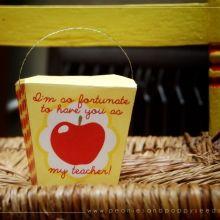 Teacher Take Out Gift Box