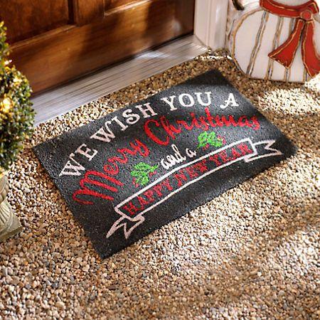 Wish You A Merry Christmas Doormat   Kirklands