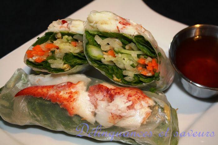Délinquances et saveurs: Rouleaux de printemps au homard