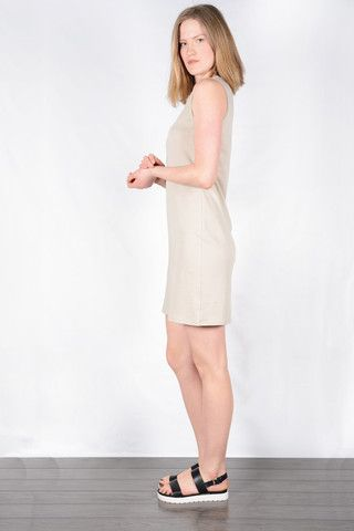 Organic cotton beige dress. Fair trade. www.sustainlux.com