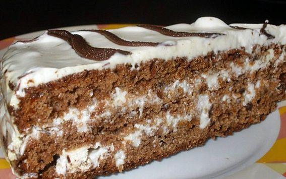 Торт «Каро» с черносливом
