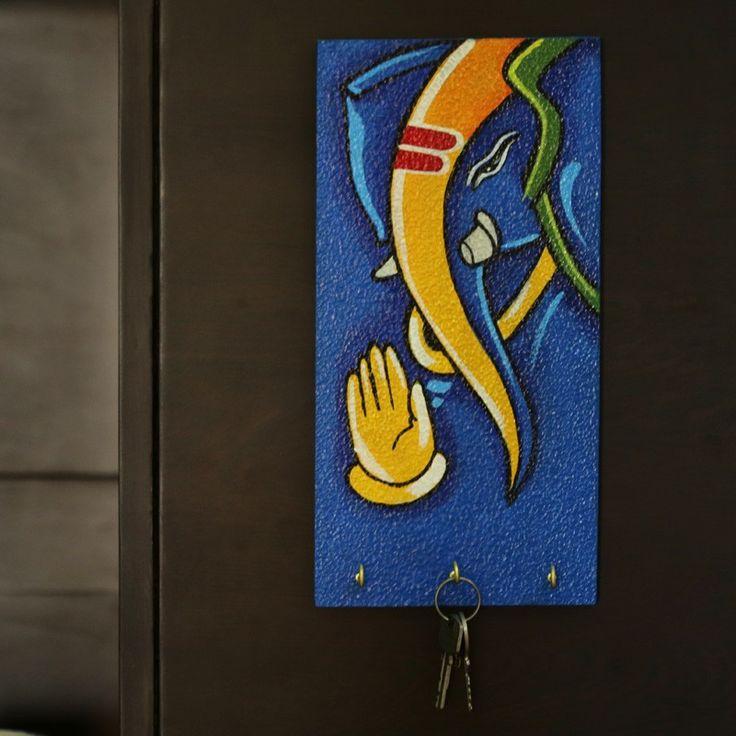 Lord Ganesha Handpainted Key Holder Blue | #simple #Decor #simple, #Decor,
