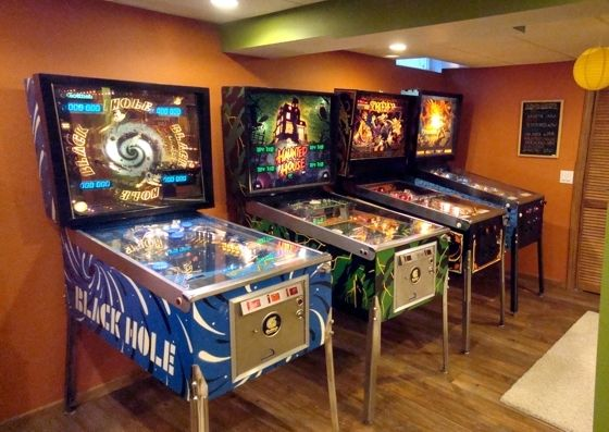 Pinball machines in the man cave