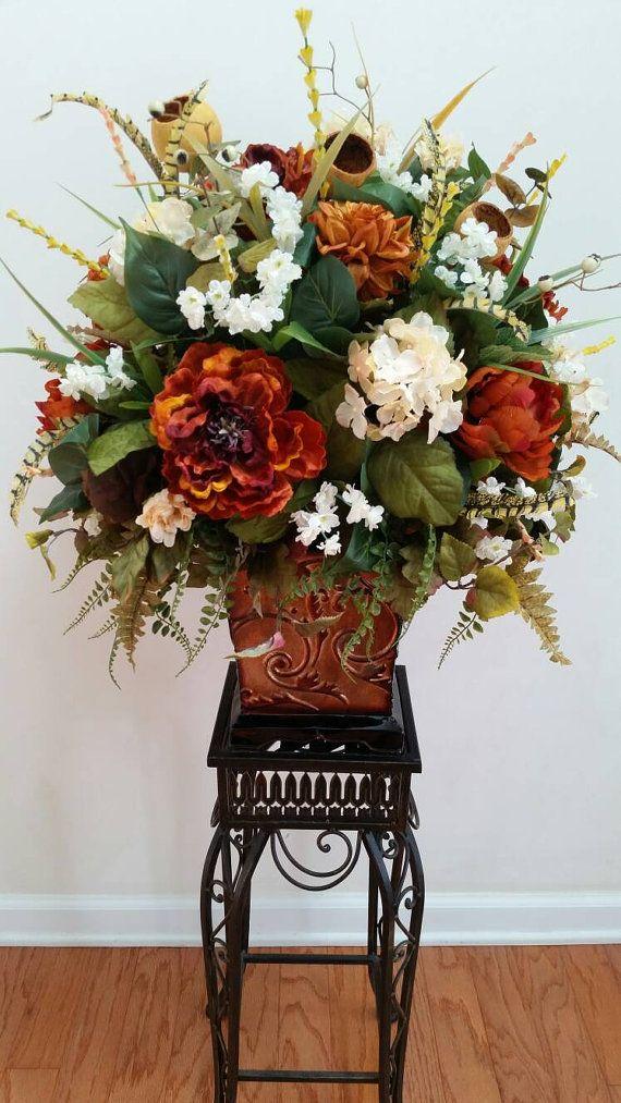 Large Arrangement For Foyer : Ideas about large floral arrangements on pinterest