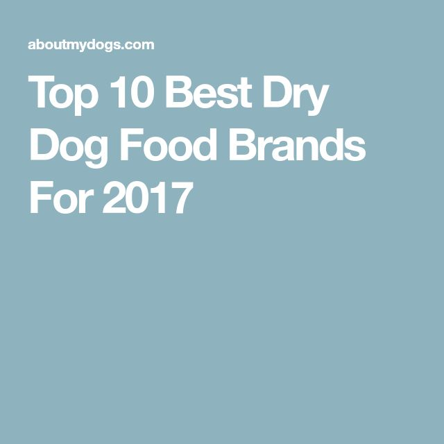 Top 10 Best Dry Dog Food Brands For 2017