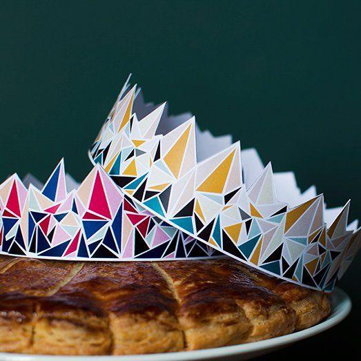 Couronnes des rois géométriques et design en papier pour l'Epiphanie / Design paper crowns for the Epiphany