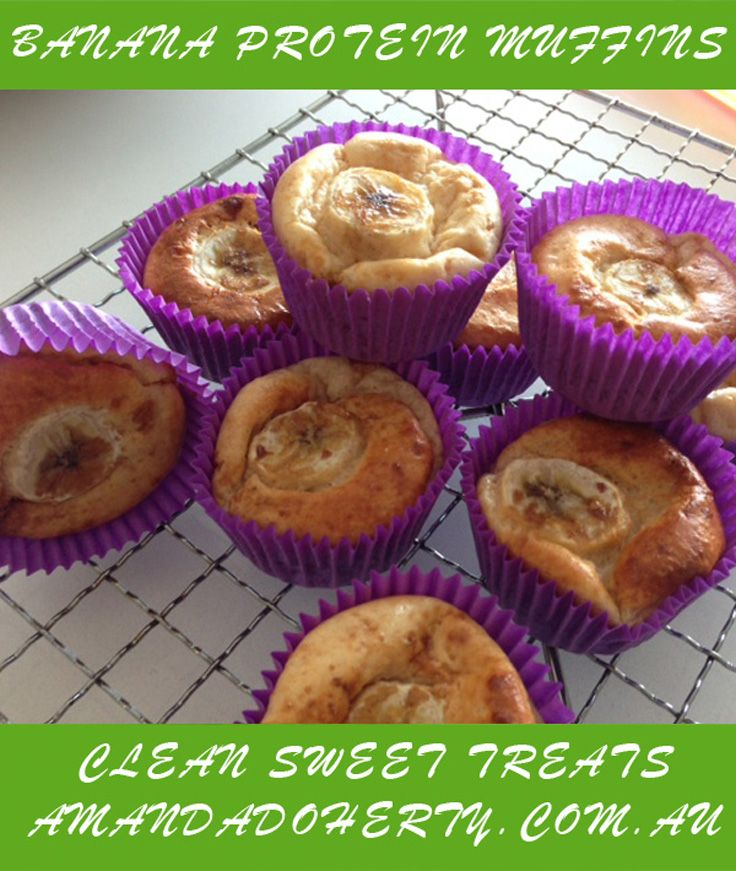 My Banana Protein Muffins.  A huge hit with my kids!   #cleansweettreats #amandadoherty #cleaneating