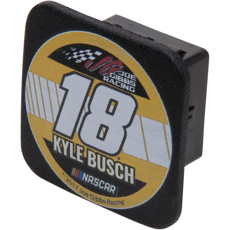 Kyle Busch Racer Rubber Trailer Hitch Cover