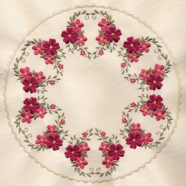 8x8 inch Floral Quilt 1 - Elsas Designs | OregonPatchWorks