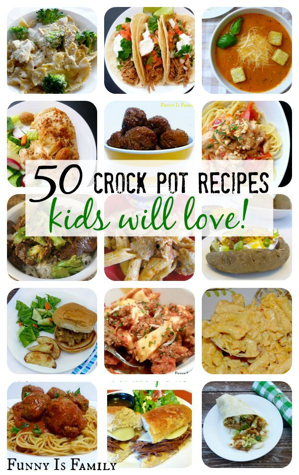 Make weekday meal planning a breeze with these crockpot recipes your kids will love! Dinner ideas include: chicken, pasta, meatballs, wraps, pork, soups, tacos, sandwiches, beef, and even super easy baked potatoes! This is your one stop shop for easy, family-friendly slow cooker meal ideas!