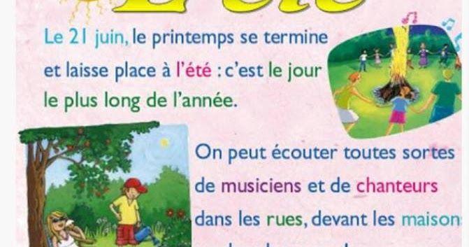 درس الفصول الاربعة مع بطاقات تعليمية رائعة مادة اللغة الفرنسية السنة الثالثة ابتدائي الجيل الثاني Lesson Education Four Seasons