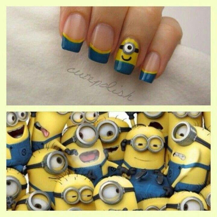 Minions nail art DIY Minion Nails - Despicable Me Nail art