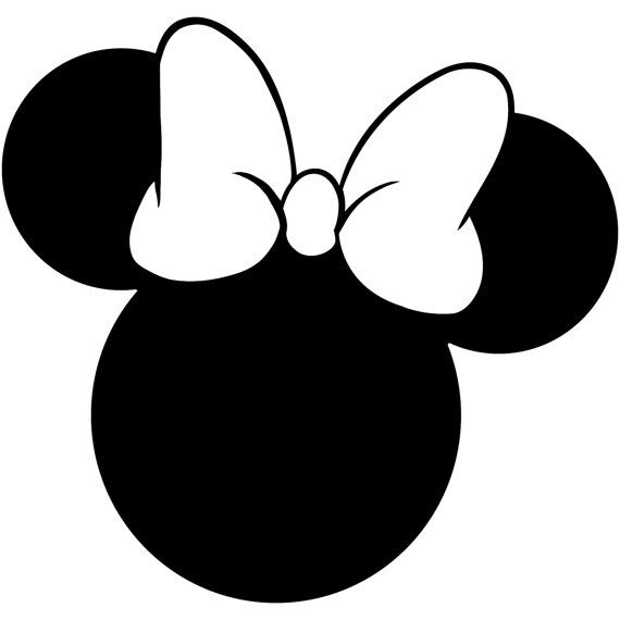 image result for minnie mouse silhouette black  minnie