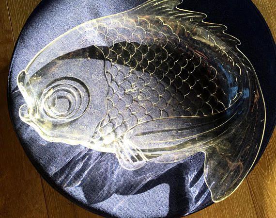 Fish Dish, Fish Tray, Fish Platter, Plastic Fish Tray, Fish Dish, Fish Decor