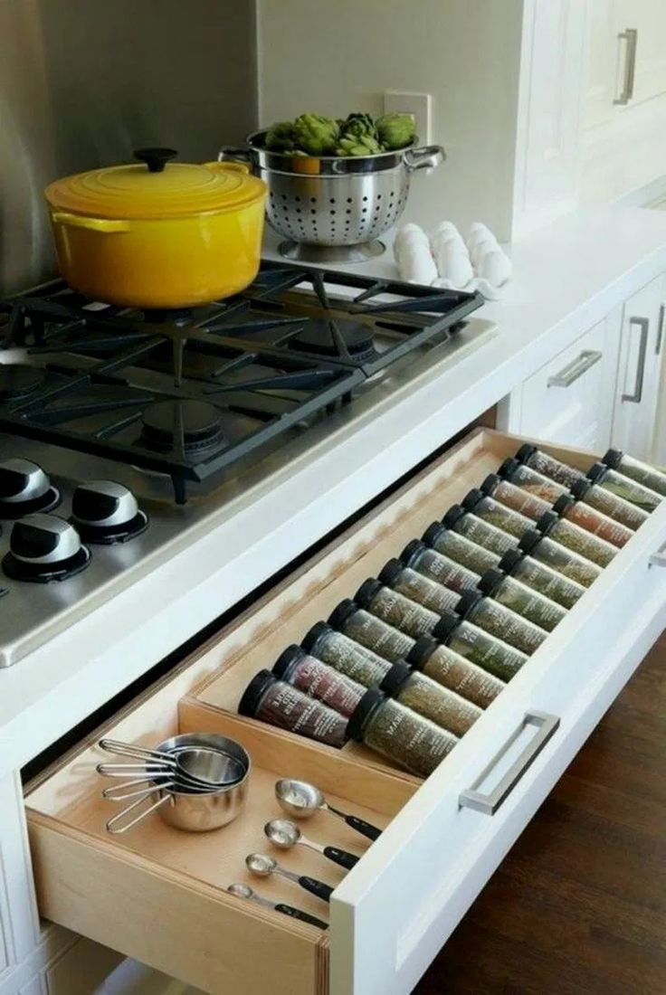 25 clever kitchen storage ideas for the new unkitchen 27 on clever ideas for diy kitchen cabinet organization tips for organizers id=17755
