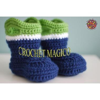 Botas, Botitas Tejidas Para Bebe Niño Crochet Dpa $ 100.0 ...