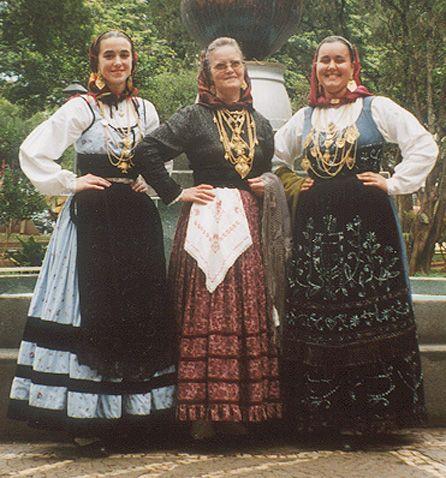 Trajes de Morgada - Meia Senhora - Mordoma - portuguese costumes