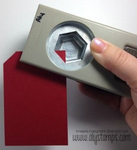 Use the Hexagon Punch to make perfect tags, every time!