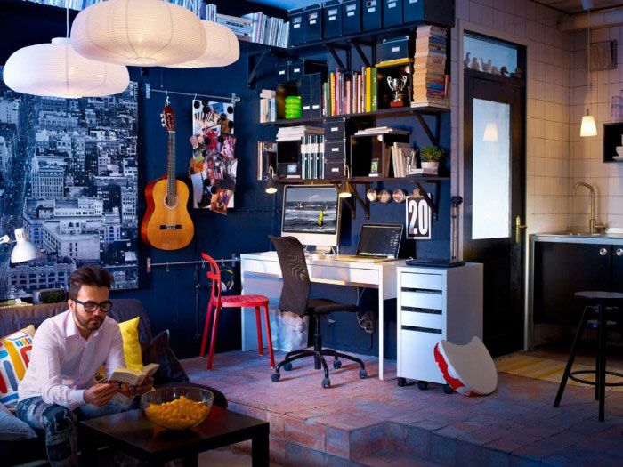 music rooms work spaces and dark blue on pinterest cool office space idea funky