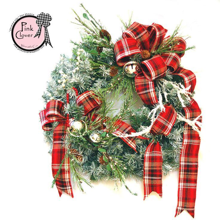 Elegant Tartan Christmas Wreath