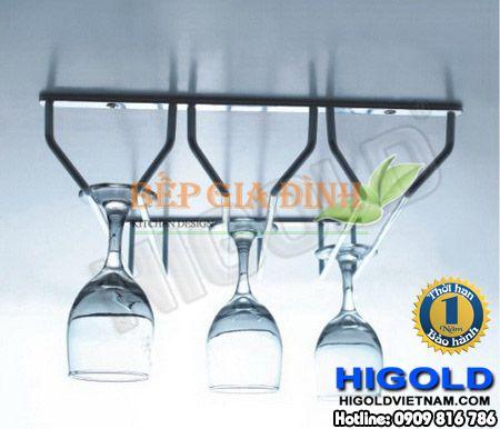 Kệ Inox treo ly ba hàng Higold – 412032