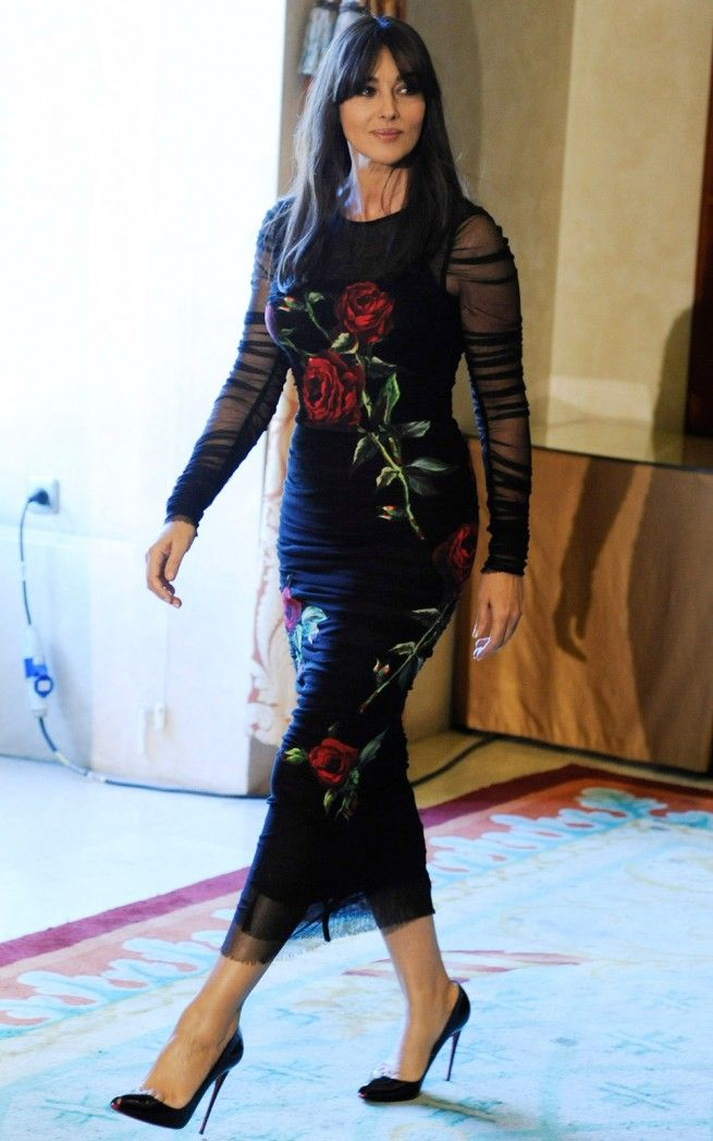 Monica Bellucci wearing Dolce&Gabbana!