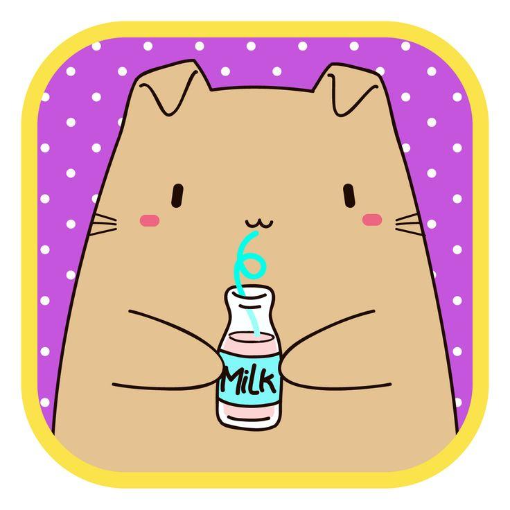 #LlaveNegra #OrejasCaída #cat #milk #IlustraciónDigital #Illustrator #Photoshop.
