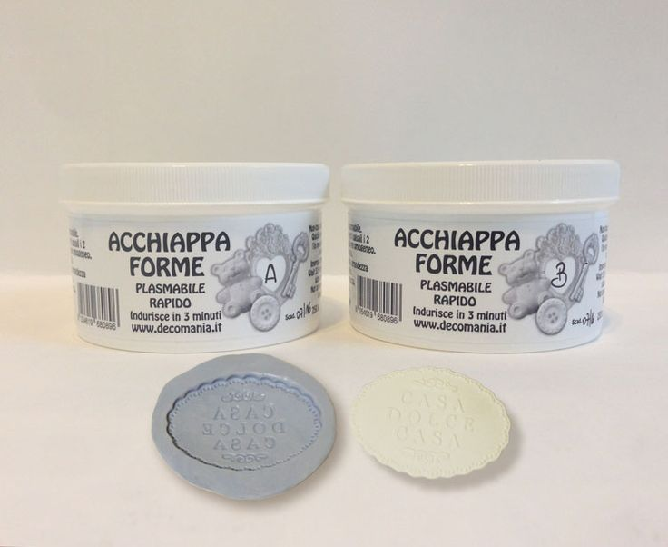 ACCHIAPPA FORME PLASMABILE ( composto A 250 g + composto B 250 g): per creare stampi in pochi minuti ( 3/5 minuti). Video: https://youtu.be/zOlVI7r6qUU Store online: www.deco-chic.it