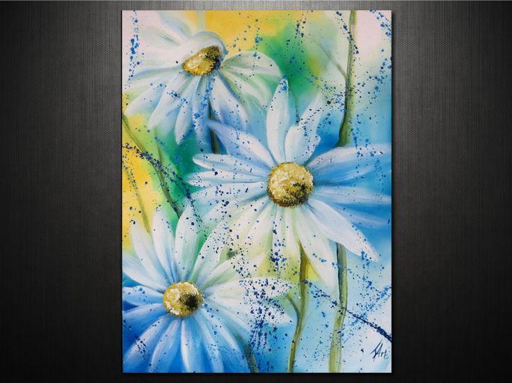 Nyári hangulat az otthonodban virágos vászonképekkel. 100% kézzel festett kép: http://ovardesign.hu/virágzás-vaszonkepen/2365-virágok-vászonkép.html?search_query=6495&results=1