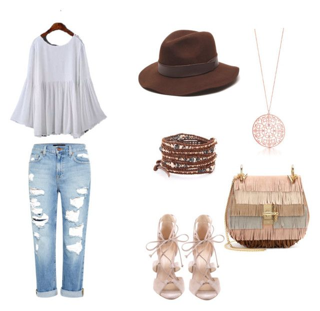 """""""I just love this look!"""" by adriana-elena-pusco on Polyvore featuring Genetic Denim, Gottex, Chloé, Chan Luu and Schutz"""