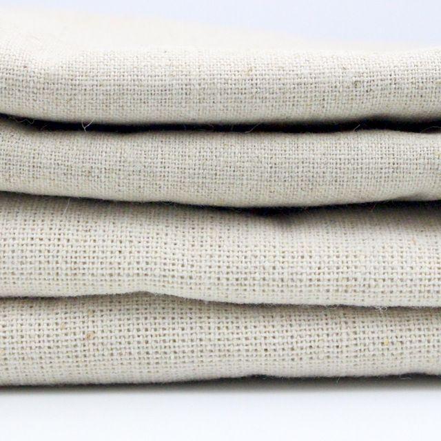 Fabric, Natural color ZAKKA Cotton Linen Cloth, Organic Unbleached,135*45cm/155cm*50cm 20020035