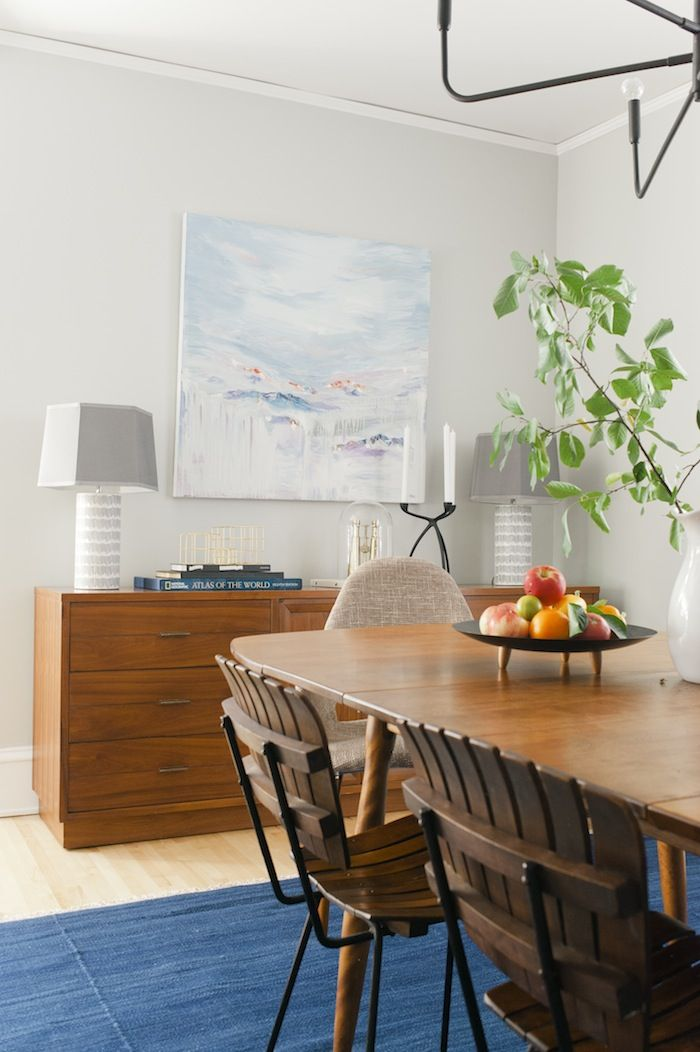 love the credenza with the lamps and the painting. credenza was craigslist