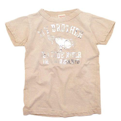 DENIM DUNGAREE(デニム&ダンガリー):ビンテージテンジク ATTACK Tシャツ 16BEベージュ の通販【ブランド子供服のミリバール】
