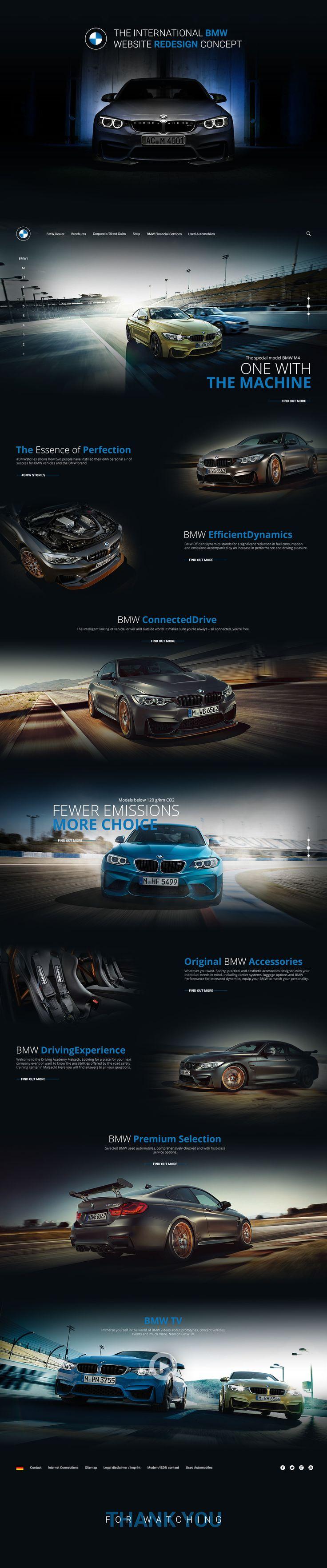 The international BMW website redesign concept on Behance