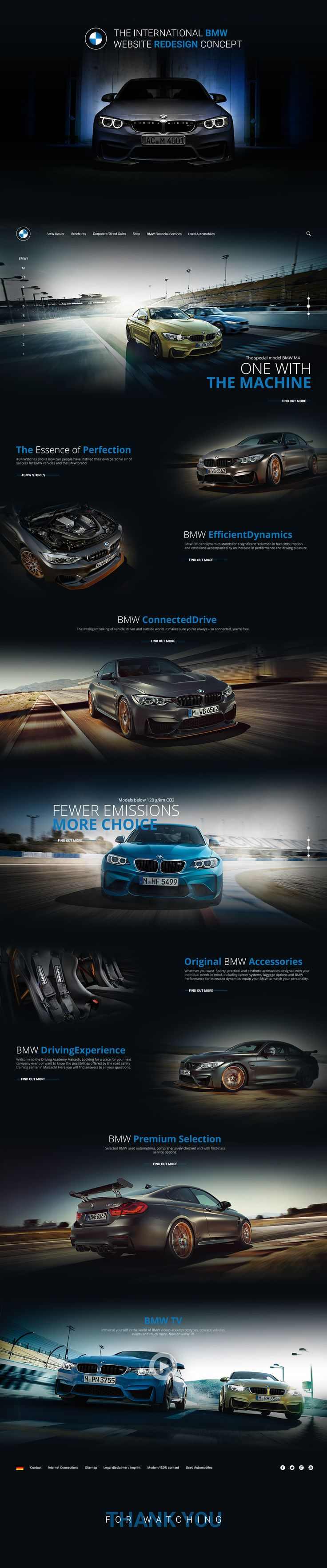 The international BMW website redesign concept on Behance