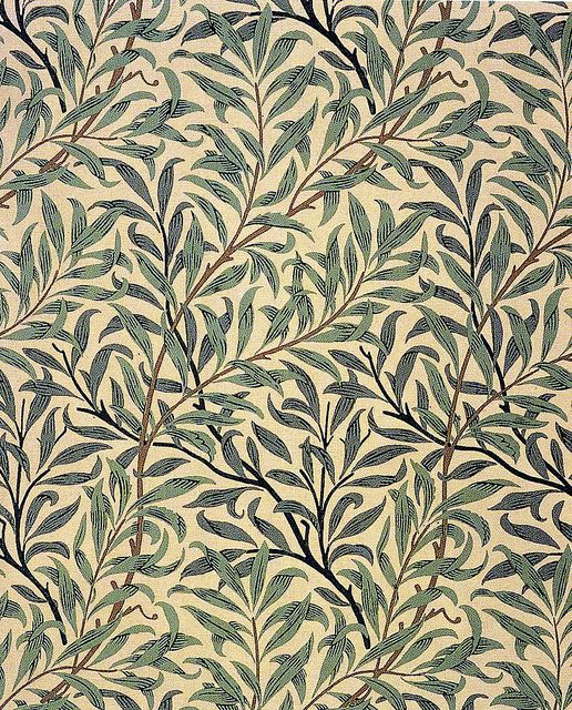 'Willow bough' wallpaper design by William morris, produced in 1887 __ posted on flickr by John Hopper/The Textile Blog