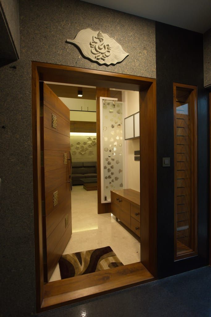 Bhuvi houses by hasta architects in 2019  Living  Apartment entrance House design Entrance