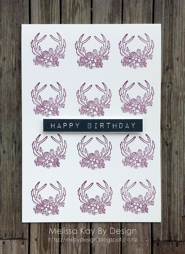 MELISSA KAY BY DESIGN WOODLAND DEER | REPEAT STAMPING #UNITYSTAMPCO #HAPPYBIRTHDAYCARDS
