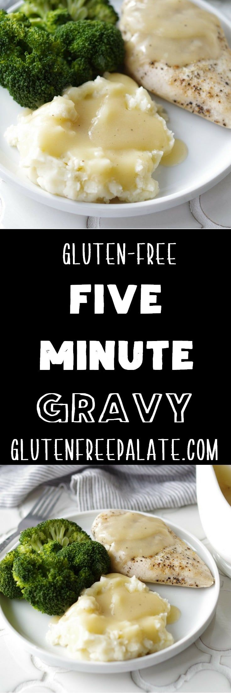 Good Gravy!!! This recipe for Five Minute Gluten-Free Gravy is a GAME-CHANGER. Everybody needs a good gluten-free gravy recipe, right?
