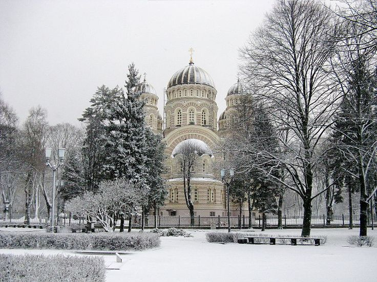 Nativity of Christ Cathedral in Riga -- 2011/2012: Riga, Snow, Christ Cathedral, Cathedrals, Nativity