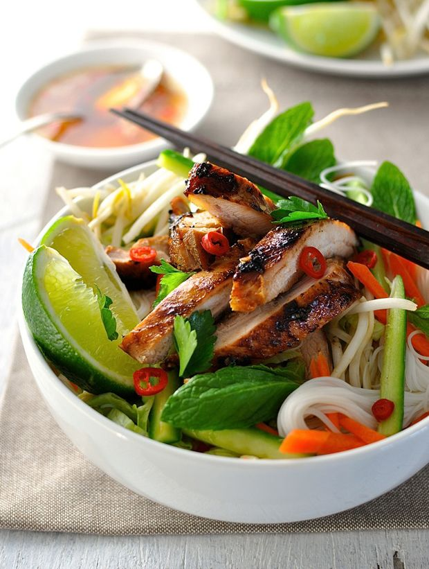 Vietnamese Chicken Noodle Bowl Recipe - RecipeChart.com