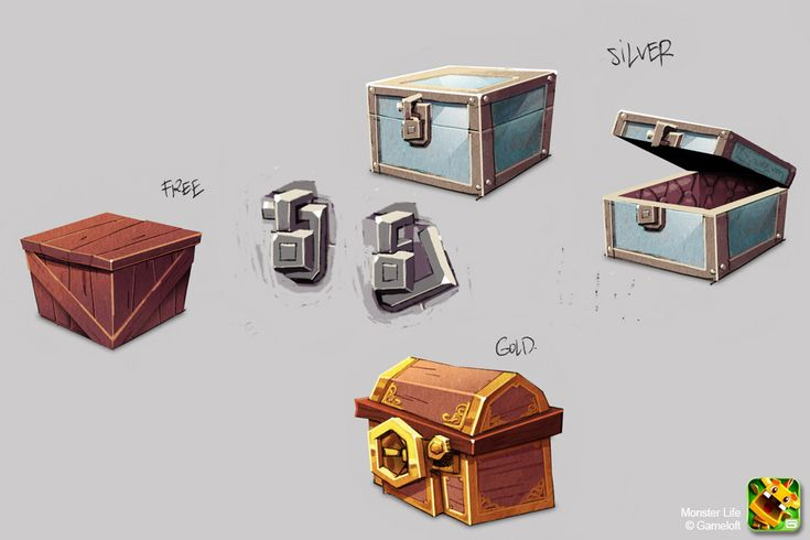 Monster Life - Items - Chests by joslin.deviantart.com on @deviantART