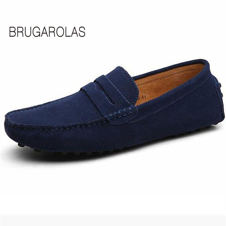 Nouveau Printemps Angleterre Mode Hommes Chaussures Zapato Chaussures Casual Mocassins Flats Slip Shoes,Orange,40