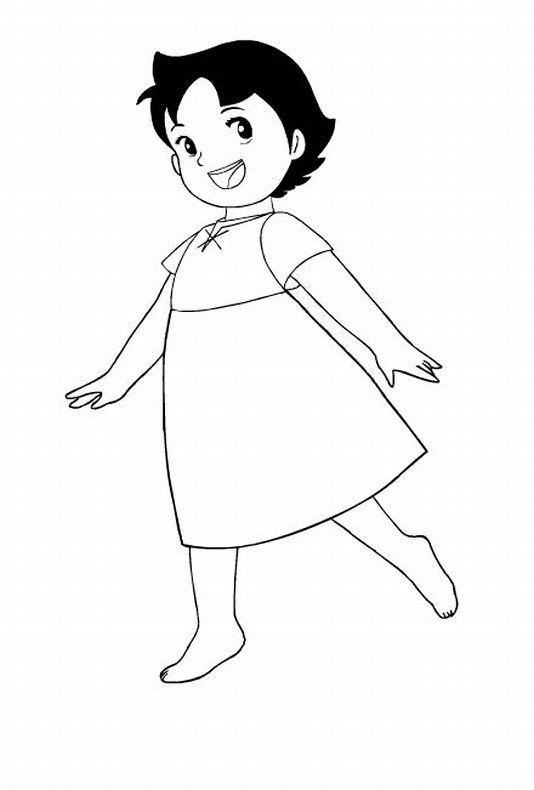 Dibujo de Heidi para colorear