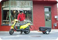 """""""Scoot Boot"""" Scooter Trailers: Tow Behind Scooter Trailer. The only scooter trailer designed specifically for 49cc scooters."""