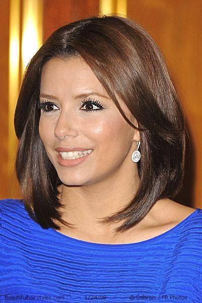 eva longoria with a textured yet polished cuts check out her ends hot haircuts pinterest. Black Bedroom Furniture Sets. Home Design Ideas