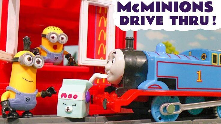 Thomas The Tank Engine Minions McDonalds Drive Thru Trouble Shopkins Foo...