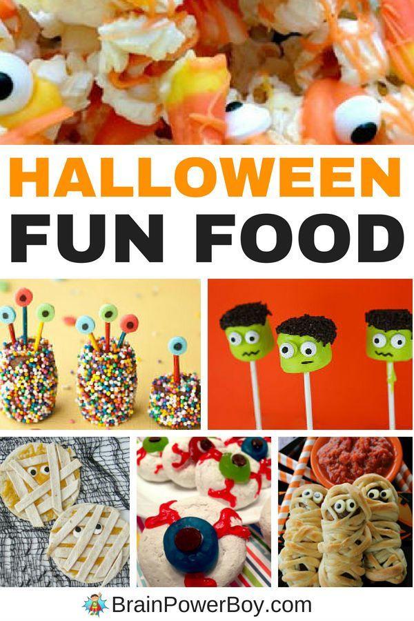 Halloween Fun Food Ideas For Kids Father Son Ideas Pinterest - pinterest halloween food ideas