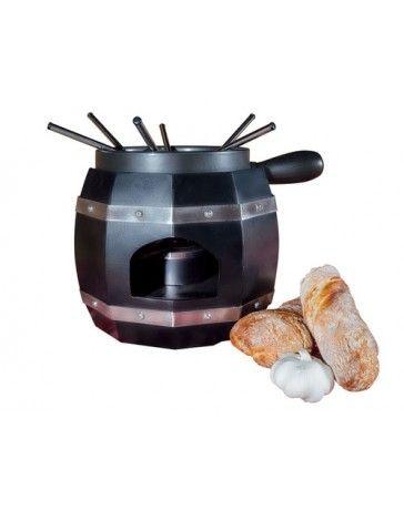 Nouvel Käsefondue Set Weinfass schwarz, 9 teilig, für 6 Personen #fondue #käsefondue #fleischfondue