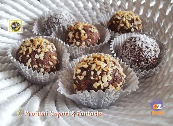 Tartufi di savoiardi al cioccolato ricetta Blog Profumi Sapori & Fantasia